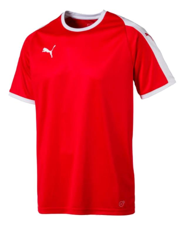 2018 Liga Players Shirt - Puma Red- White