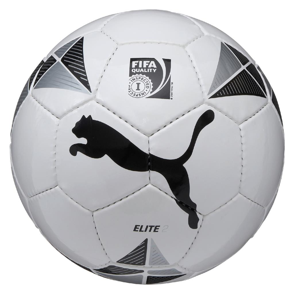 ELITE 2 size 4 (Fifa Inspected) ball - White- Black- Metallic- Silver